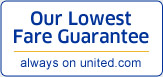 Our Lowest Fare Guarantee always on united.com