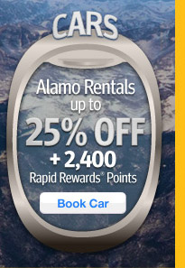 Alamo Rentals up to 25% Off + 2,400 Points.