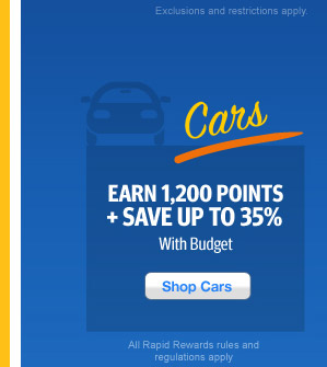 Earn 1,200 Points + Save up to 35% with Budget.