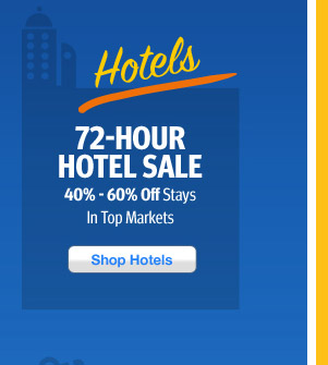 Hotel Mega Sale! 40% - 60% Off Stays in Top Markets