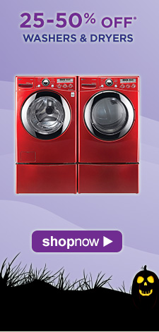 25-50% OFF* Washers & Dryers | Shop Now